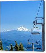 Mount Jefferson And Chairlifts Canvas Print