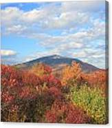 Mount Monadnock From Gap Mountain In Autumn Canvas Print