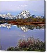 Mount Moran And Jackson Lake Canvas Print