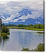 Mount Moran From Oxbow Bend N Grand Teton National Park-wyoming Canvas Print