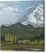 Mount Rainier From Lake Rap John  Canvas Print