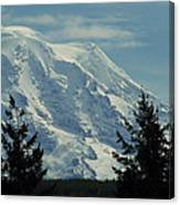 Mount Rainier From Patterson Road Canvas Print