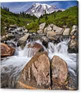 Mount Rainier Glacial Flow Canvas Print