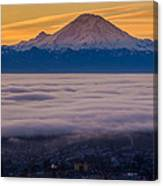 Mount Rainier Sunrise Mood Canvas Print