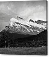 Mount Rundle At Banff National Park Canvas Print