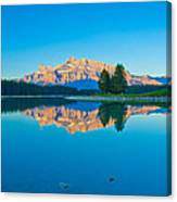 Mount Rundle At Jack Lake Canvas Print