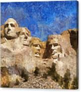 Mount Rushmore Monument Photo Art Canvas Print