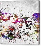 Mount Rushmore National Memorial In Color Canvas Print