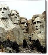 Mount Rushmore Presidents Canvas Print