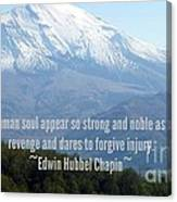 Mount Saint Helen's Text Canvas Print