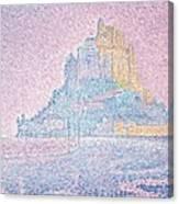 Mount Saint Michel Fog And Sun Canvas Print