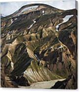 Mount Skalli From Mount Blahnukur Canvas Print