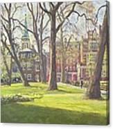 Mount Street Gardens, London Oil On Canvas Canvas Print