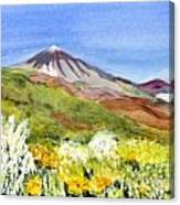 Mount Tiede In Tenerife Canvas Print
