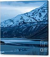 Mount Timpanogos Winter Evening Canvas Print