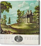Mount Vernon, 1859 Canvas Print
