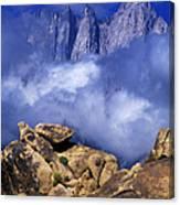 Mount Whitney Alabama Hills California Canvas Print