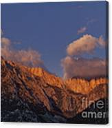Mount Whitney In Clouds Alabama Hills Eastern Sierras California  Canvas Print