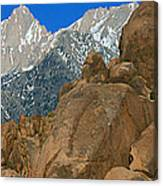 Mount Whitney, Lone Pine, California Canvas Print