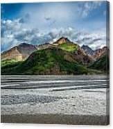 Mountain Across The River Canvas Print