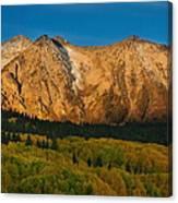 Mountain Autumn Sunrise Canvas Print