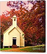 Mountain Church In Fall Canvas Print