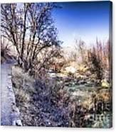 Mountain Creek Path-sundance Utah Canvas Print
