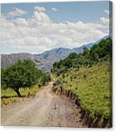 Mountain Dirt Road In Northern Crete Canvas Print