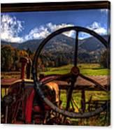 Mountain Farm View Canvas Print