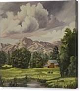 Mountain Farm Canvas Print