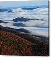 Mountain Fog - Blue Ridge Parkway Canvas Print