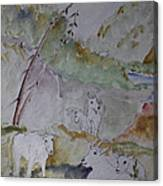 Mountain Goats In Spearfish Canyon Canvas Print