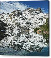 Mountain In The Mirror Canvas Print