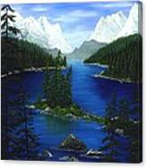 Mountain Lake Canada Canvas Print