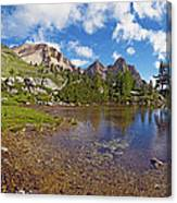 Mountain Lake In The Dolomites Canvas Print