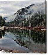 Mountain Lake Reflection Canvas Print