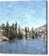 Mountain Lake Retreat Canvas Print