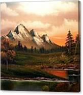 Mountain Meadow Dusk Canvas Print