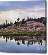 Mountain Mirror View Canvas Print