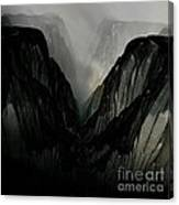 Mountain Mist And Fog Canvas Print