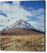 Mountain peak with clouds Canvas Print