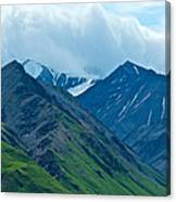 Mountain Peaks From Eielson Visitor's Center In Denali Np-ak Canvas Print