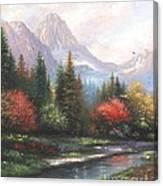 Mountain Peaks Canvas Print