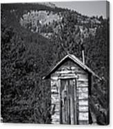 Mountain Privy Bw Canvas Print