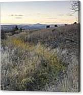 Mountain Range In Montana Canvas Print