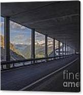 Mountain Road And Tunnel Canvas Print