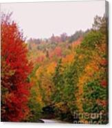 Mountain Road In Fall Canvas Print