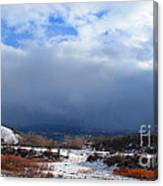 Mountain Snow Coming  Canvas Print