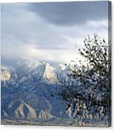 Mountain Snow Storm Canvas Print