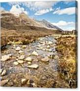 Mountain Stream From Beinn Eighe Canvas Print